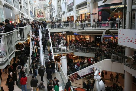 crowded shopping mall