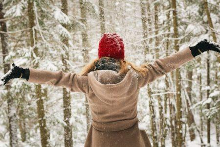 Woman Wearing Winter Coat